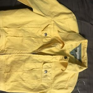 Yellow denim Tommy Hilfiger jacket